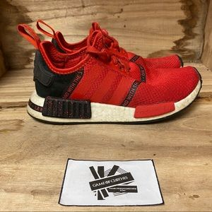 Adidas nmd r1 red black scarlet sneakers shoes